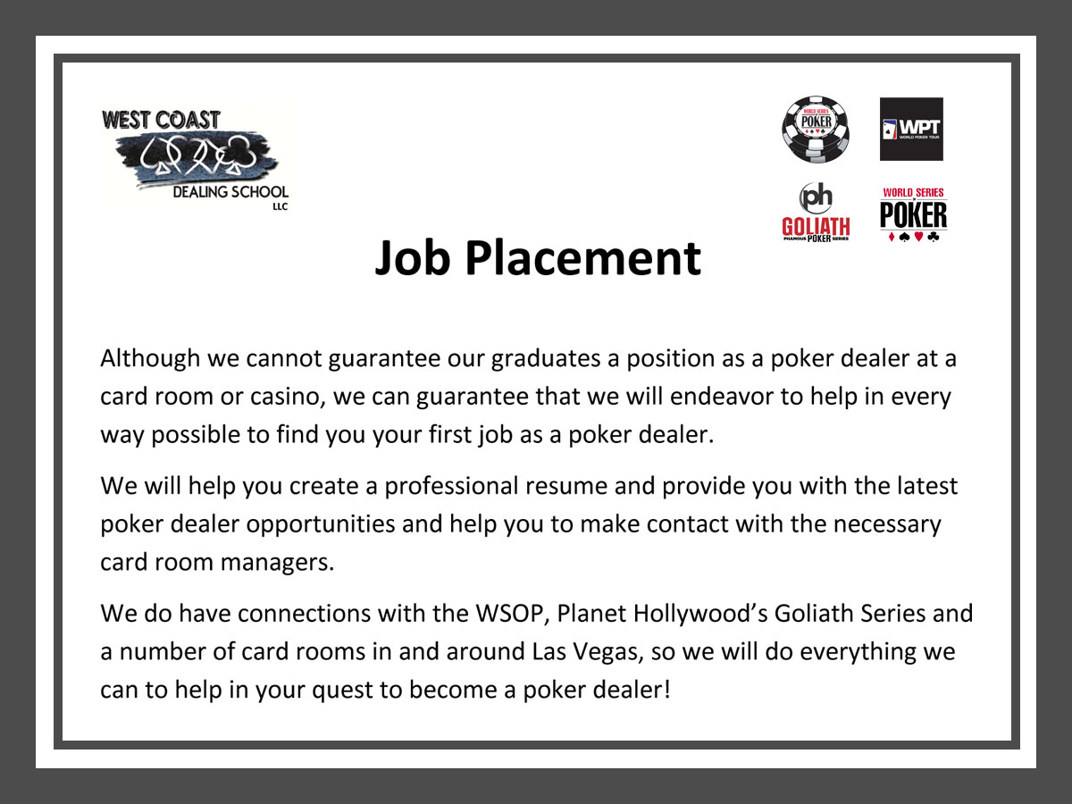 poker dealer job resumes